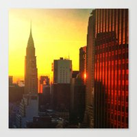Chrysler Sunrise Canvas Print