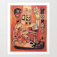 Esclaves des robots... nous serons   Art Print
