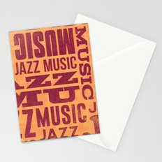 Jazz Poster Stationery Cards