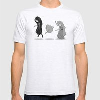 Adventure Time: Marceline, Princess Bubblegum, & LSP: Single Ladies of Ooo Mens Fitted Tee Ash Grey SMALL