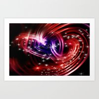 Two cosmic hearts Art Print