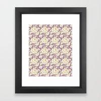 Rose Damask Orchid Framed Art Print