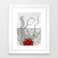 What's under the bed... Framed Art Print