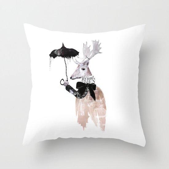 RainDeer Throw Pillow