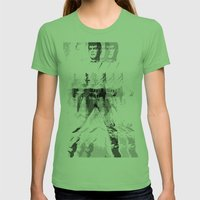 FPJ Gray Mix Womens Fitted Tee Grass SMALL