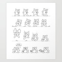 Elephant versus Mouse Art Print