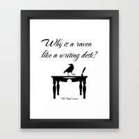 Alice In Wonderland Why … Framed Art Print