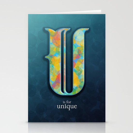 U is for Unique Stationery Card