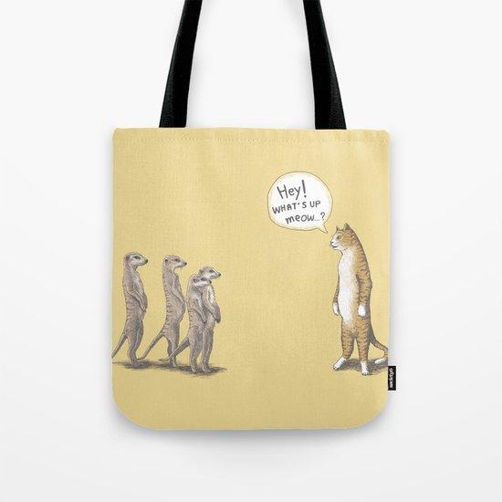 Cat & Meerkats Tote Bag