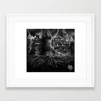 dark castle Framed Art Print