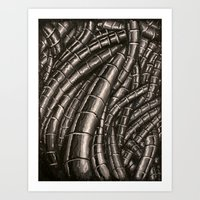 Metal Cables Art Print