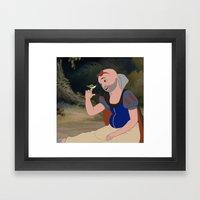 Beautiful Snow White Framed Art Print
