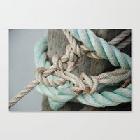 TIED TO THE MOORING #1 Canvas Print
