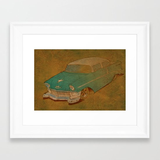 56 Framed Art Print
