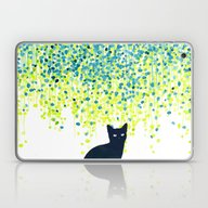 Cat In The Garden Under … Laptop & iPad Skin