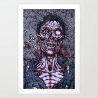 Black Flies Art Print