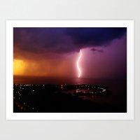 Catch Lightning Again Art Print