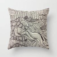 Throw Pillow featuring Landscape by Renee Trudell