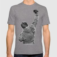 How Hard You Get Hit - Rocky Balboa Mens Fitted Tee Tri-Grey SMALL