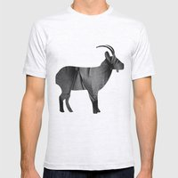 Goat (The Living Things Series) Mens Fitted Tee Ash Grey SMALL