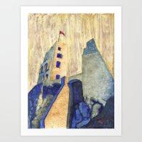 Likava castle Art Print