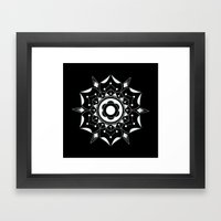 Geometric Flower Framed Art Print