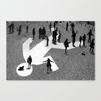 Skaters Canvas Print