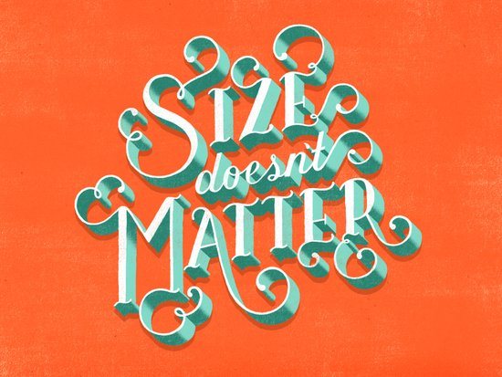 Size Doesn't Matter Art Print