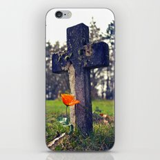 Simple cemetery cross iPhone & iPod Skin