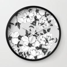 Grey Spring Wall Clock
