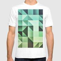 :: Geometric Maze III :: Mens Fitted Tee White SMALL