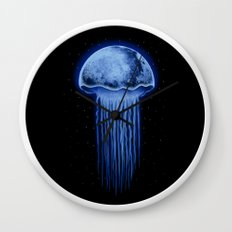 Moon Jellyfish Wall Clock