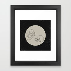 Come with me, I'll take you to a place. Framed Art Print