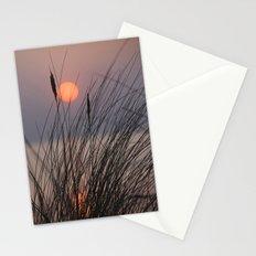 seaside sunset Stationery Cards