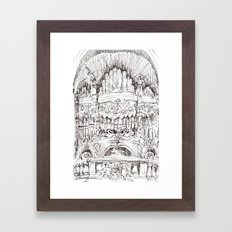 a superfluous organ Framed Art Print