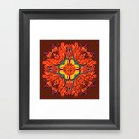 red round accumulation Framed Art Print