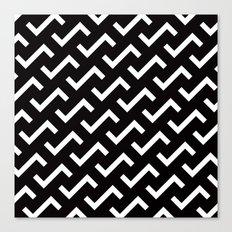 B/W S shape pattern Canvas Print