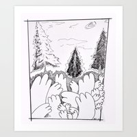 Hands In The Wild Art Print