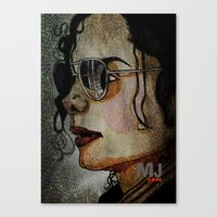 MJ In Profile Canvas Print