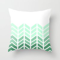 OMBRE LACE CHEVRON Throw Pillow