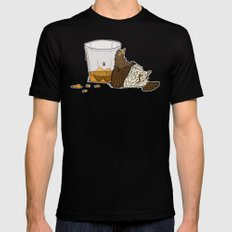 Thirsty Grouse - Colored with White Background MEDIUM Black Mens Fitted Tee
