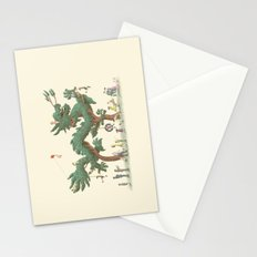 The Night Gardener - Dragon Topiary  Stationery Cards