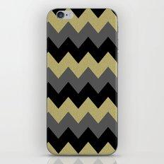 Black & Gold Chevron iPhone & iPod Skin