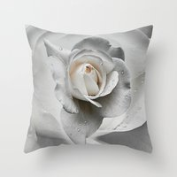 Tears In The Rosegarden Throw Pillow