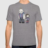 HEY YOU GUYS! Mens Fitted Tee Tri-Grey SMALL