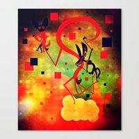 Canvas Print featuring This Is Seven by Doc Diventia