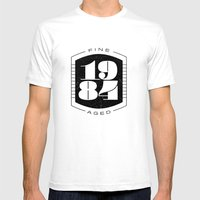 Fine Aged 1984 - Dark Mens Fitted Tee White SMALL