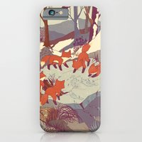 orange iPhone & iPod Cases featuring Fisher Fox by Teagan White