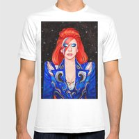 Space Princess Mens Fitted Tee White SMALL