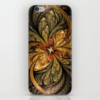 Shining Leaves Fractal Art iPhone & iPod Skin
